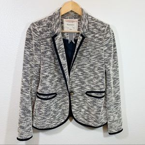 Cartonnier blazer black and white textured